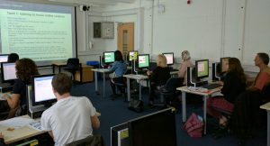 Participants in hands-on computer session on 9 September event